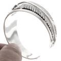 Navajo Sterling Feather Bracelet 25163