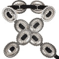 Navajo Hammered Silver Concho Belt 16015