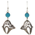 Blue Turquoise Earrings 26206