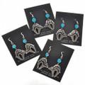 Native American Bear Dangle Earrings 26206