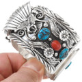 Native American Sterling Silver Turquoise Watch 22112