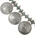 Silver Dollar Turquoise Bead Necklace 22969