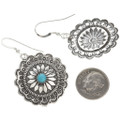 Sleeping Beauty Turquoise Silver French Hooks 15788