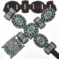 Old Pawn Style Turquoise Concho Belt 16791
