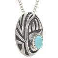 Native American Turquoise Silver Pendant 25510