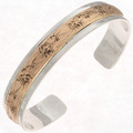 Gold Silver Native American Cuff 14807