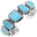 Natural Turquoise Sterling Silver Bracelet 26732