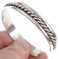 Silver Twist Wire Navajo Bracelet 23133