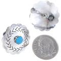 Southwest Silver Concho Earrings 20657