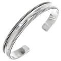 Navajo Sterling Cuff Bracelet 22335