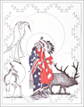 Patriotric Indian Chief Totem Art Print 17217