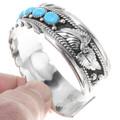Turquoise Silver Navajo Bracelet 25385