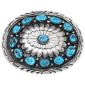 Navajo Natural Turquoise Belt Buckle 27117