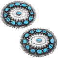 Natural Kingman Turquoise Buckles 27117