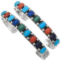 Colorful Native American Silver Bracelets 23228