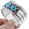 Kingman Turquoise Cuff Bracelet 19679