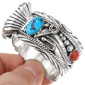Ladies Turquoise Coral Cuff Watch 24468