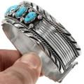 Navajo Hammered Silver Bracelet 17621