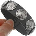 Antique Buffalo Indian Head Nickel Leather Bracelet 24001