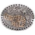 Silver Gold Trophy Belt Buckle 21975
