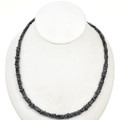 5mm Snow Flake Obsidian Tube and Rondel Beads 16 inch Long Strand