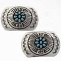 Turquoise Sterling Belt Buckles 24727