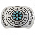 Navajo Turquoise Silver Belt Buckle 24728