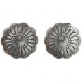 Sterling Silver Concho Earrings (Santa Fe Finish) 20757