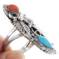 Navajo Silver Turquoise Ring 24587