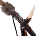 Leather Beaded Indian Bow 15874