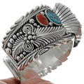 Navajo Big Boy Sterling Watch Cuff 13279
