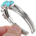 Turquoise Silver Cuff Bracelet 23550