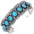 Turquoise Sterling Navajo Bracelet 17623