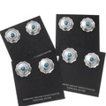 Native American Hammered Silver Earrings 22685