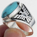 Eagle Turquoise Mens Ring 24338