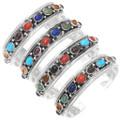 Colorful Multi Stone Navajo Cuff Bracelet 16162