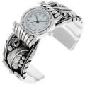 Navajo Silver Watch Cuff Bracelet 24432