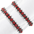 Navajo Red Coral Row Bracelet