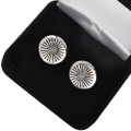 Hammered Sterling Navajo Cuff Links 19622
