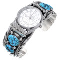 Turquoise Silver Boys Watch Cuff Navajo Made 15078