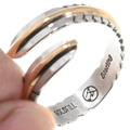 Navajo Bypass Silver Gold Ring 24819