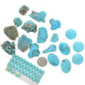 Campitos Blue Turquoise Windowed Cut Examples 22326