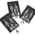 Turquoise in Sterling Silver Feather Earrings 26991