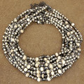 Wholesale Lot of 12 3mm to 9mm Graduated Bone and Antiqued Brass Bali Bead Strands