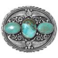 Green Turquoise Belt Buckle 19010