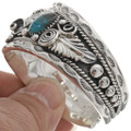 Navajo Turquoise Coral Sterling Cuff 21931