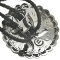 Authentic Indian Silver Concho Bolo 16148