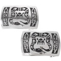 Native American Symbols Silver Western Belt Buckle 25874