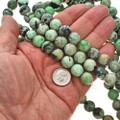 12mm Chrysotine Beads 16 inch Strand