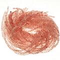 6mm Pink Glass Beads 16 inch Strand